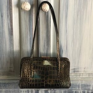 Sondra Roberts Multi Color Croc Embossed Bag